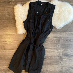 Black Free People long vest